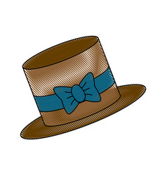 hat accessory bow ribbon fashion trendy for men vector image vector image