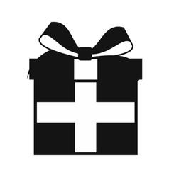 Present box simple icon vector image vector image