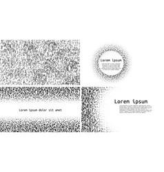 set of random letters backgrounds vector image