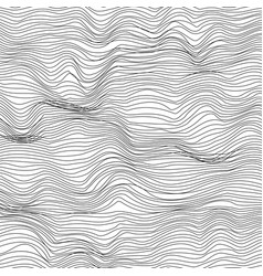 Abstract black and white wave texture background vector