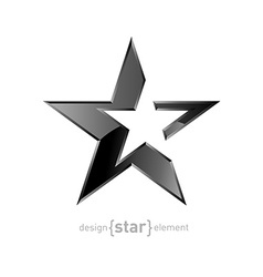 Abstract Silver star on white background vector image