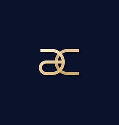 Ac letters monogram logo design vector