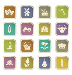 Agricultural icons set vector