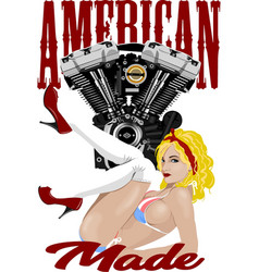 american made vector image