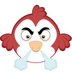 An angry cartoon bird vector