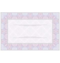 Blank certificate vector