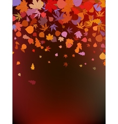 Brown autumnal background EPS 8 vector image