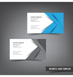 Business Card template set 031 blue and white vector image