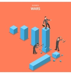 Business wars isometric flat concept vector image