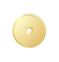 Chinese gold coin vector
