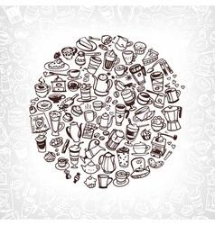 Coffee doodles 2 vector