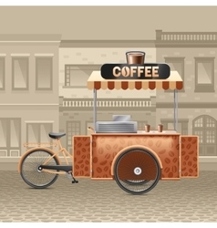 Coffee Street Cart vector image