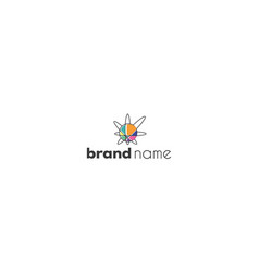 color logo on which an abstract image a vector image