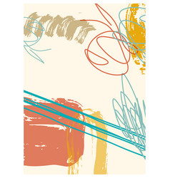 creative minimalist hand painted vector image
