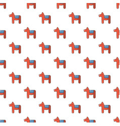 Dala horse swedish symbol pattern seamless vector