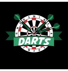 Darts label Badge Logo sporting symbols vector