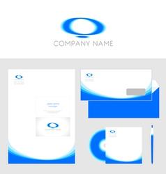 Design of corporate identity templates vector image
