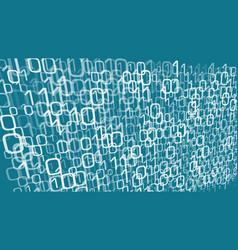 digital cloud computing random numbers chaos vector image