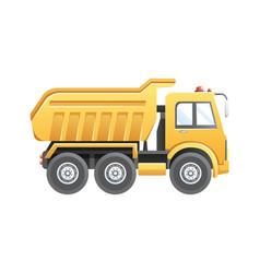 Dump truck construction vehicle vector