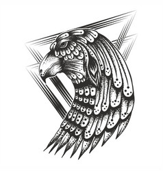 eagle head vintage vector image