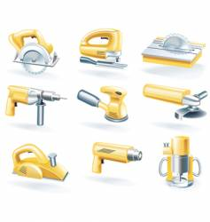 Electric tools icons vector