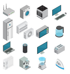 electronics isometric set vector image