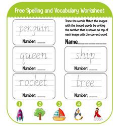 english alphabet tracing worksheets vector image