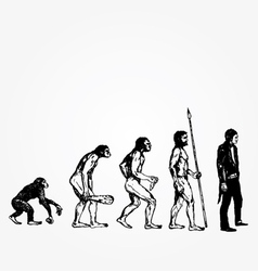 evolution vector image