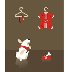 Fashion dog shopping vector
