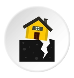 Fault of earth icon flat style vector image