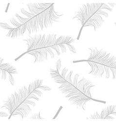 Feathers pattern vector