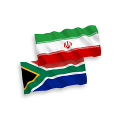 flags iran and republic south africa on a vector image
