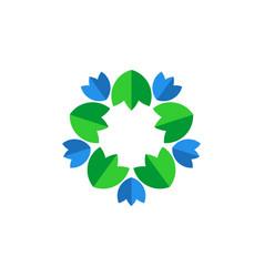 flower leaf vector image