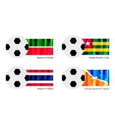 Football of Tatarstan Togo Thailand and Tierra vector image