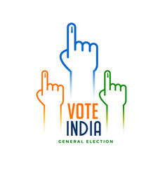 Hand with voting sign for election vector