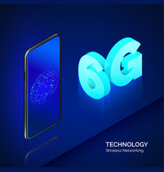 high speed mobile network 6g isometric banner vector image