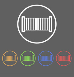 icons of swing gates vector image