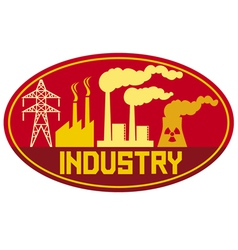 industry label vector image