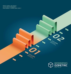 Infographic isometric graph vector