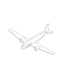 Isometric airplane icon vector image