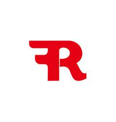 Letter r symbol motion curves simple design logo vector