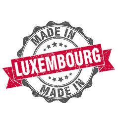Made in luxembourg round seal vector