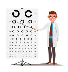 Male ophthalmology sight eyesight vector