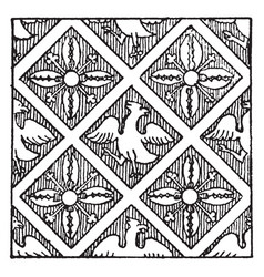 Manuscript ornament is a manuscript vintage vector