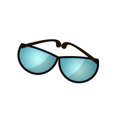 Modern black sunglasses for golf play sport vector