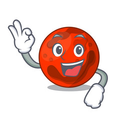Okay mars planet character cartoon vector