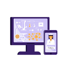 online and telemedicine concept vector image