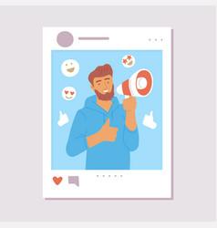 Online social media influencer post concept vector