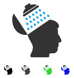Propaganda brain shower flat icon vector