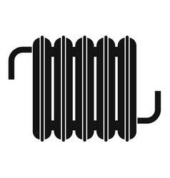 radiator icon simple style vector image